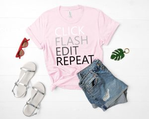 click flash edit repeat tshirt valentines day gift for girlfriend wife