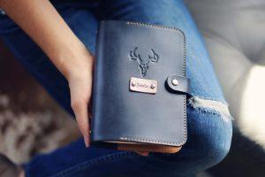 leather organiser agenda planner valentines day gift for girlfriend