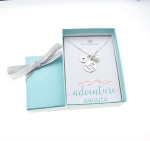 necklace hiking love valentines day gift