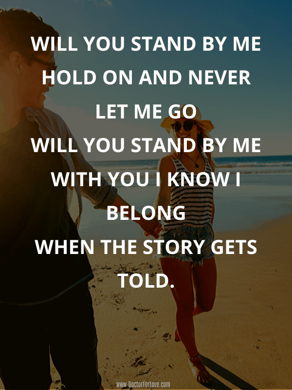 16 Meaningful Song Lyrics Stand By Me
