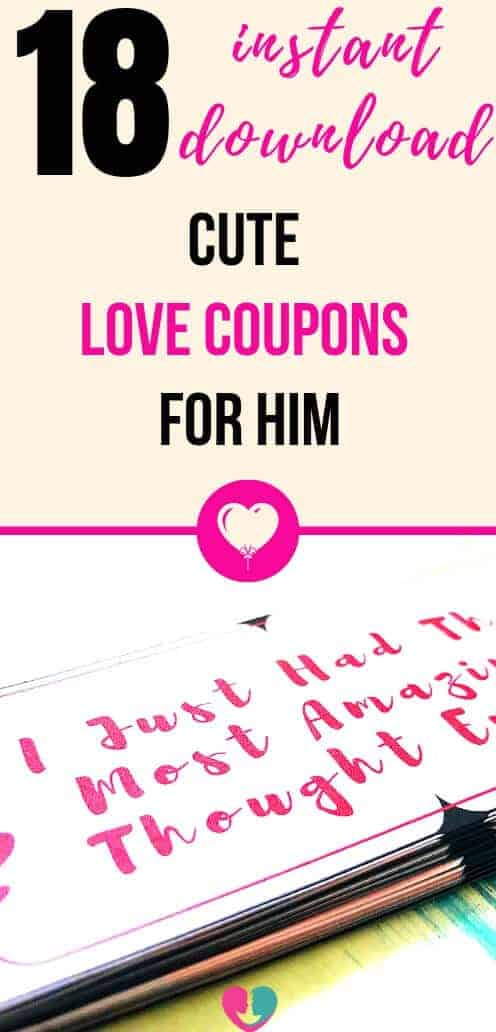 18 Sexy and Romantic Free Love Coupons for Husbandd or Boyfriend. Men Love Them, You Enjoy Them. Instant Download, No Email Required