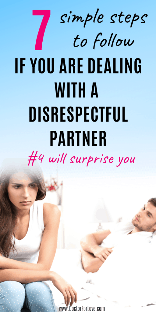 What to do if your partner disrespects you in your relationship? How to react and how to act in a way that will save your relationship? 7 steps on what to do. / disrespect in a relationship / respect in a relationship / disrespectful partner / what to do if disrespected by partner / relationship advice / relationship tips / love and relationship / love and respect