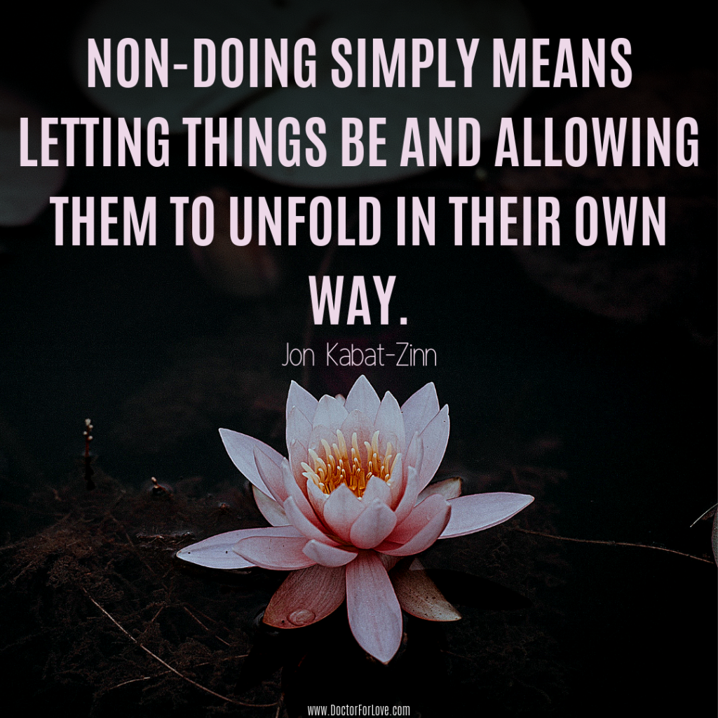 Non Doing Meaning of Mindfulness