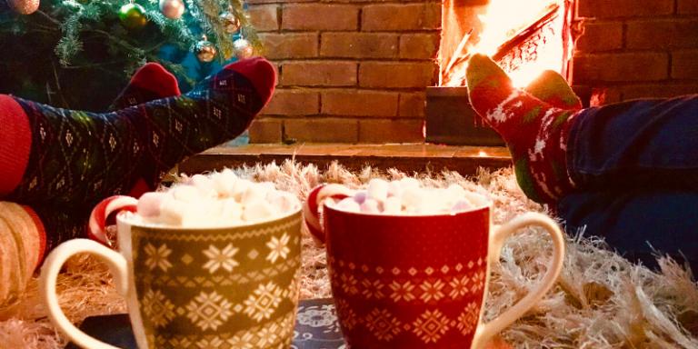 Christmas cups hot chocolate