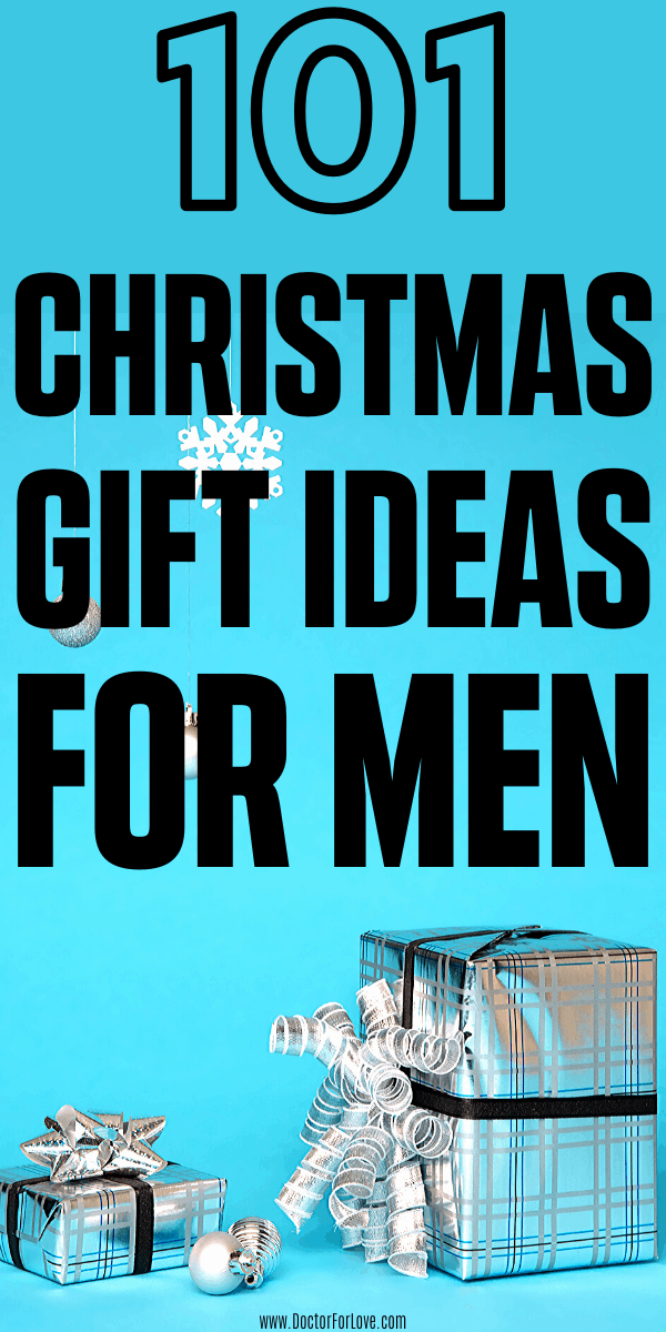 What you going to get him this Christmas? This is a huge list of 101 Christmas gift ideas for men. No matter if you wonder what to get your loved one, your father, your colleague or your friend, this gift guide is for you. Christmas gift ideas for him/ What to get him for Christmas/ Christmas gifts for men/ Christmas gifts for husband/ Christmas gift guide/ Things to get him for Christmas #ChristmasGiftGuide #ChristmasGiftIdeas #GiftIdeasForChristmas #DoctorForLove
