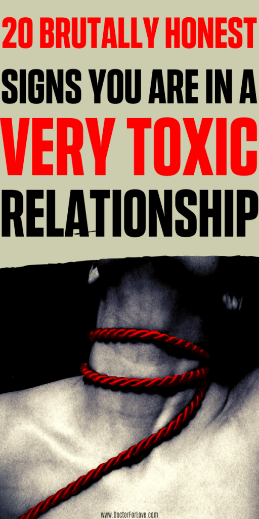 Are you in a toxic relationship? How to know if you relationship is unhealthy and even toxic? These are 20 warning signs of a very toxic relationship you want to know about. Is your partner toxic? Check now. Relationship advice/ Toxic relationship signs/ Signs you are in a toxic relationship/ Am I in a toxic relationship/ Unhealthy relationship signs/ Toxic relationship tips/ #relationshipTips #RelationshipAdvice #ToxicRelationshipSigns #ToxicPartner #DoctorForLove #InAToxicRelationship