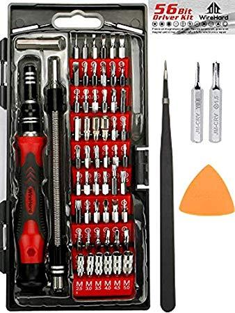 WIREHARD 62 in 1 Precision Screwdriver Set - Repair Tool Kit