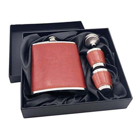 7 Oz Stainless Steel Hip Flask Gift Set