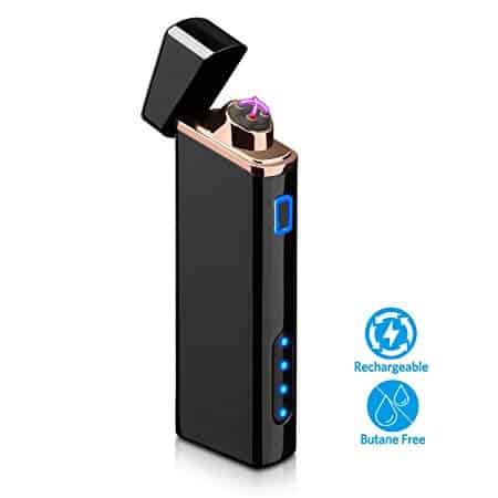 Lighter, Electric Lighter with Battery Display USB Rechargeable