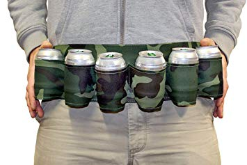 6-Pack Beer Belt, Camouflage Oxford Cloth Soda Holder Drink Belt