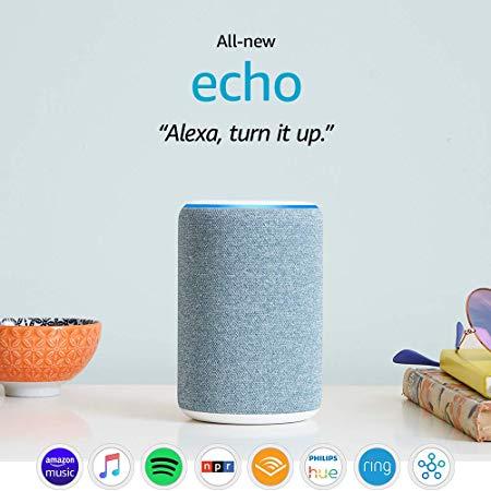 All-new Echo (3rd Gen) - Smart speaker with Alexa - Twilight Blue