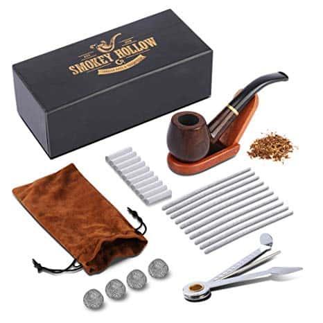 Tobacco Pipe - Smoking Pipe Kit - Stylish, Cool and Distinguished Wood Smoke Pipe Set