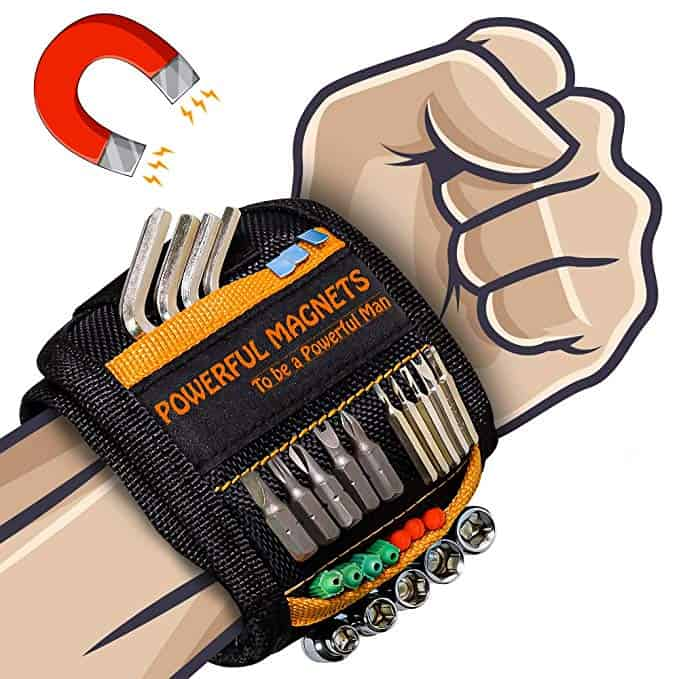 Magnetic Wristband with 10 Powerful Magnets for Holding Nails Screws Drill | Gadgets for Men