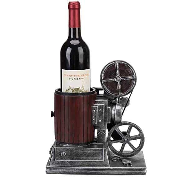 MyGift Vintage Film Camera Design Single Bottle Wine Holder