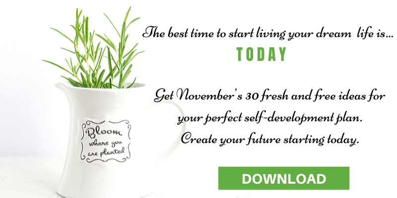 Sign up form for 365 self-development ideas for your personal development plan