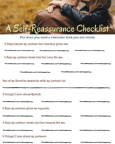 A Self-Reassurance Checklist